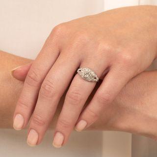 Late Art Deco .57 Carat Diamond Engagement Ring