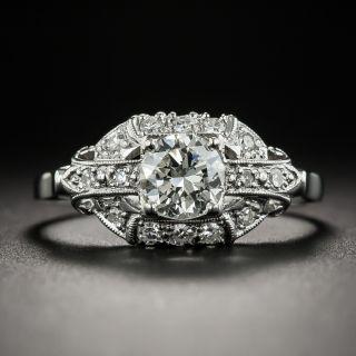 Late-Art Deco .70 Carat Diamond Platinum Engagement Ring Granat Bros. - 1