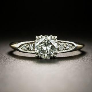 Late Art Deco .73 Carat Diamond Engagement Ring by Byard F. Brogan - 2