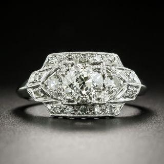 Late Art Deco .75 Carat Diamond Engagement Ring - GIA K VS2 - 2