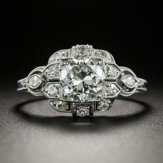 Late Art Deco .98 Carat Diamond Engagement Ring - GIA G SI1 - 2