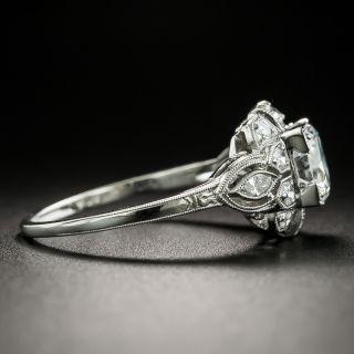 Late Art Deco .98 Carat Diamond Engagement Ring - GIA G SI1