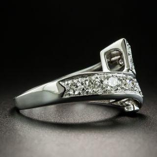 Late Art Deco Diamond Bypass Ring