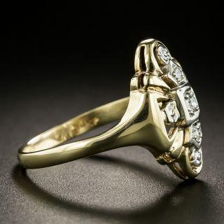 Late Art Deco Diamond Dinner Ring