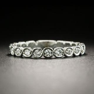 Late Art Deco Diamond Wedding Band, Size 5 1/2+ - 2