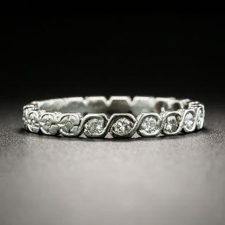Late Art Deco Diamond Wedding Band, Size 5 1/2+