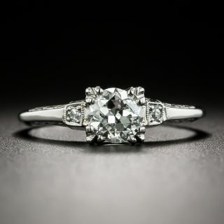 Late Art Deco/Mid Century .65 Carat Diamond Ring, Orange Blossom by Traube - 3