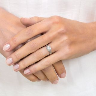 Late Art Deco/Mid Century .65 Carat Diamond Ring, Orange Blossom by Traube