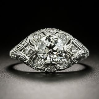 Late Edwardian 1.07 Carat Diamond Engagement Ring  - GIA J VVS2  - 2
