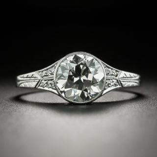 Late Edwardian/Art Deco 1.82 Carat Diamond Platinum Ring  - 2
