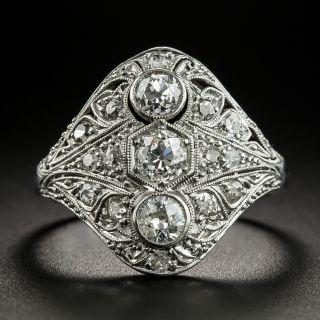 Late Edwardian / Early Art Deco Diamond Three-Stone Dinner Ring - 2
