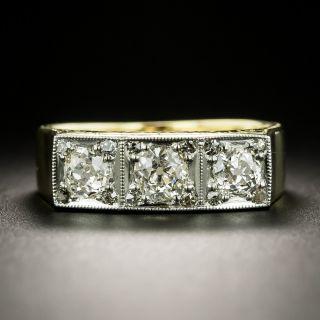 Late Edwardian/Early Art Deco Three-Stone Diamond Ring - 3