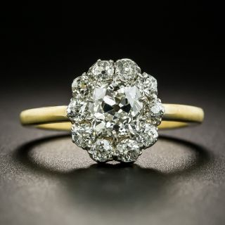 Late-Victorian 1.00 Carat Diamond Cluster Ring - GIA H SI1 - 2