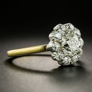 Late-Victorian 1.00 Carat Diamond Cluster Ring - GIA H SI1