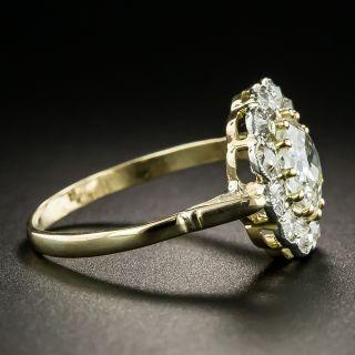 Late Victorian 1.26 Carat Diamond Center Halo Ring - GIA