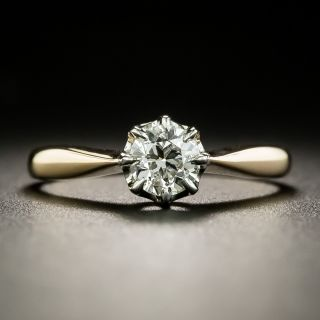 Late Victorian .48 Carat Diamond Solitaire Engagement Ring - 2