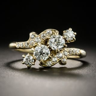 Vintage Diagonal Diamond Ring - 2