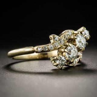 Late Victorian Diagonal Diamond Ring