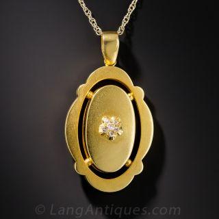 Late Victorian Diamond Cluster Pendant - 1