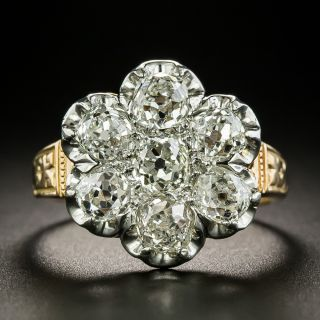 Late Victorian Diamond Cluster Ring - 2