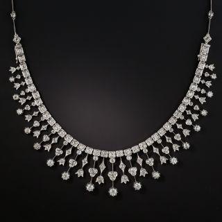 Late-Victorian Diamond Fringe Necklace - 2
