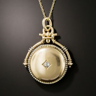 Late Victorian Diamond Swivel Locket - 2