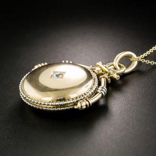 Late Victorian Diamond Swivel Locket