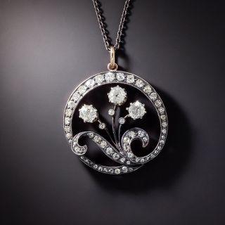 Late-Victorian Diamond Wreath Pendant - 1