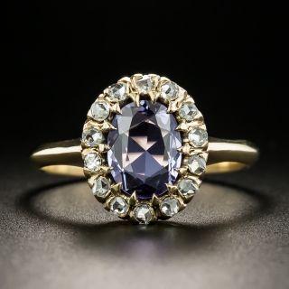 Late-Victorian No-Heat Purple Sapphire and Diamond Ring - 4