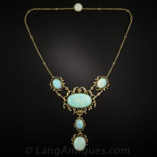 Late Victorian Opal Necklace
