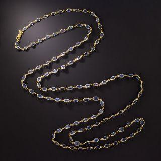 Long 18K Sapphire Chain - 1