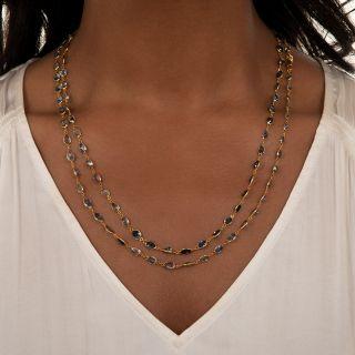 Long 18K Sapphire Chain