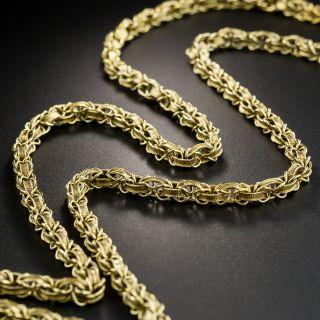 Long 59 Inch Fancy Link Victorian Chain - 3