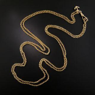 Long 9 Ct. English Victorian Chain - 2
