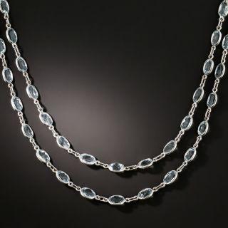 Long Aquamarine Chain/Necklace - 1