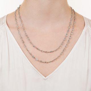 Long Aquamarine Chain/Necklace