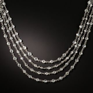 Long Diamonds-By-The-Yard Necklace - 23.00 Carat Total - 1