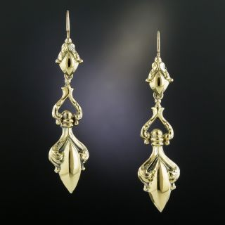 Long Victorian Amphora Earrings  - 2