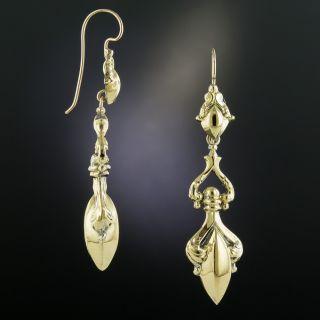 Long Victorian Amphora Earrings