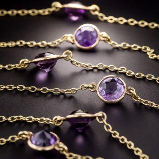 Long Vintage Amethyst Chain - 1