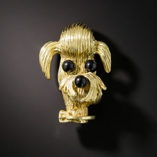 Lovable Dog Brooch by Cellino - 2
