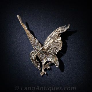 Majestic Turn of the Century Diamond Eagle Pin