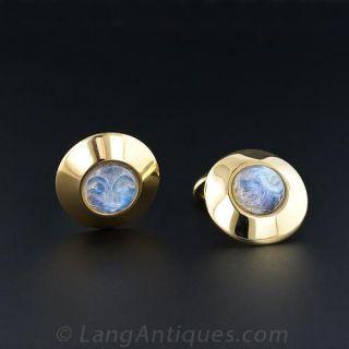 Man-in-the-Moonstone Cufflinks - 1
