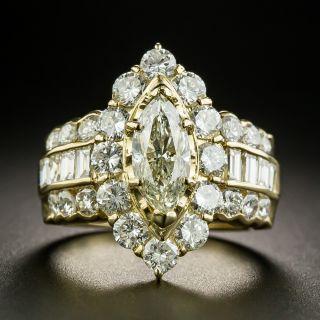 Marquise Diamond Engagement Ring - 1