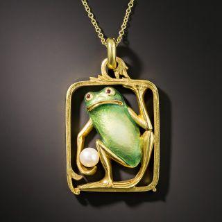 Masriera Enamel Frog Pendant - 2