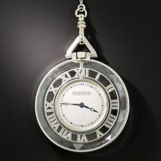 Mauboussin Art Deco Rock Crystal and Diamond Skeleton Watch - 1