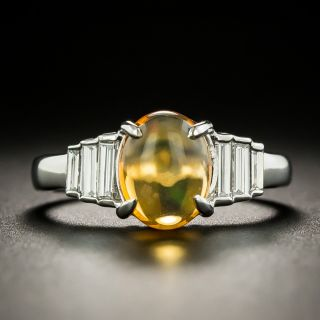 Mexican Fire Opal and Diamond Ring - 1