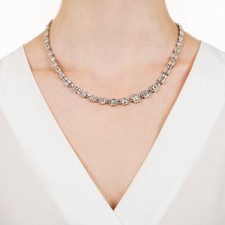 Mid-20th Century Emerald-Cut Diamond Necklace - 33.00 Carats (GIA)