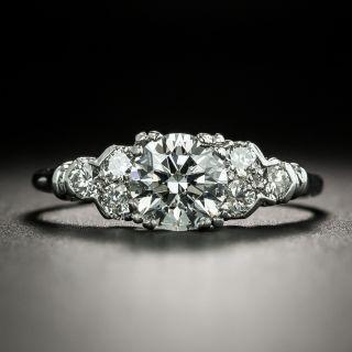 Mid-Century 1.00 Carat Diamond Engagement Ring - GIA E SI1 - 2