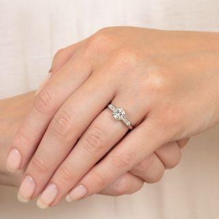 Mid-Century 1.01 Carat Diamond Ring by Hartzberg - GIA J VS2